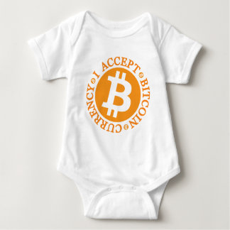 I Accept Bitcoin Currency Type 01 Baby Bodysuit