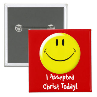 I Accepted Christ Today! 2 Inch Square Button