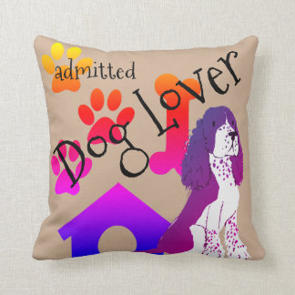 I Admit I Love Dogs Throw Pillow