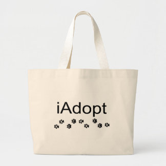 I Adopt Animals Large Tote Bag