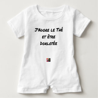 I ADORE the TEA AND BEING PAMPERED - Word games Baby Romper