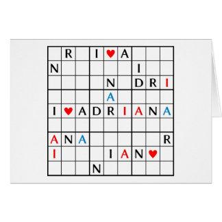 I♥ADRIANA CARD