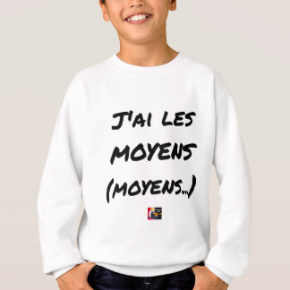 I AI MEANS (AVERAGE…) - Word games Sweatshirt