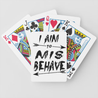 I aim to mis behave bicycle playing cards
