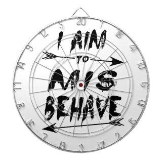 I aim to mis behave dartboard