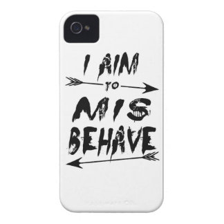 I aim to mis behave iPhone 4 cover