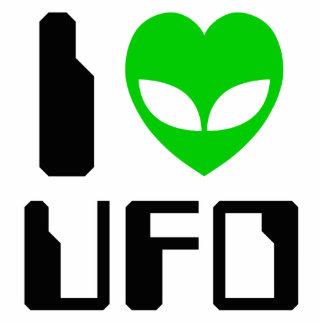 I Alien Heart UFO Standing Photo Sculpture