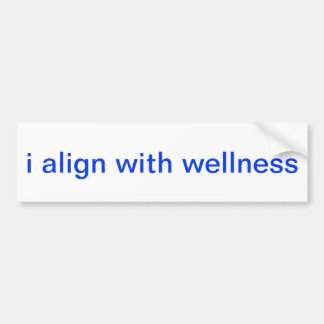 i align with wellness bumper sticker