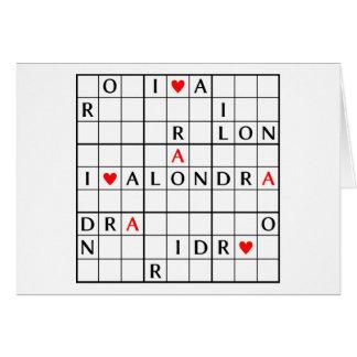 I♥ALONDRA CARD