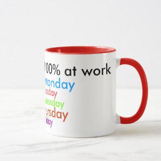 I Always Give 100% at work! Mug
