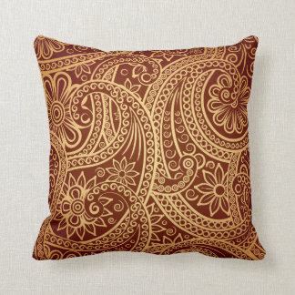 I always knew paisley would make a comeback throw pillow