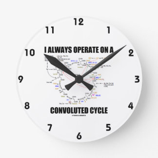 I Always Operate On A Convoluted Cycle (Krebs) Round Clock