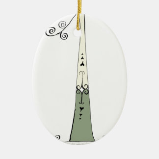 I Am 1 yrs Old from tony fernandes design Ceramic Oval Ornament