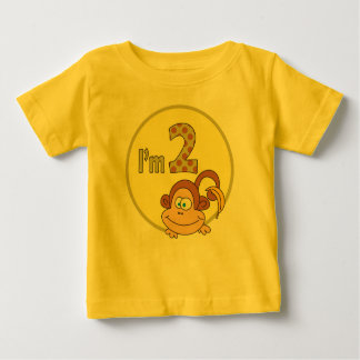 I am 2 Cute Monkey With Banana Birthday Shirt