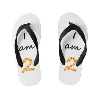 I am 2 - Kids Flip Flops