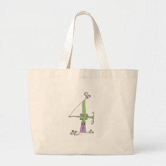 I Am 4 yrs Old from tony fernandes design Large Tote Bag