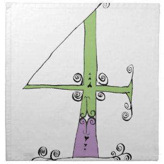 I Am 4 yrs Old from tony fernandes design Napkin