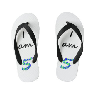 I am 5 - Kids Flip Flops