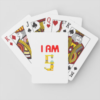 I am 5 Robots Evolution 5th Birthday 2012 Playing Cards