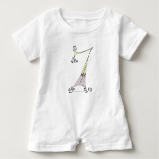I Am 7 yrs Old from tony fernandes design Baby Romper