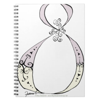 I Am 8 yrs Old from tony fernandes design Spiral Notebook
