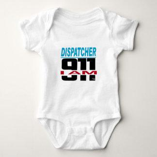 I Am 911 logo stuff for Fire, EMS, Dispatch! Baby Bodysuit