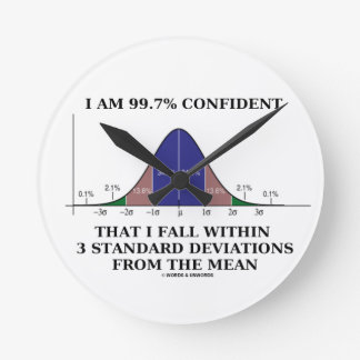 I Am 99.7% Confident Fall Within 3 Std Deviations Round Clock