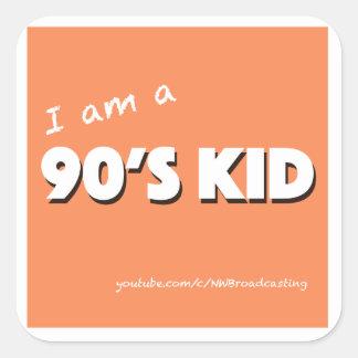 """""""I am a 90's Kid"""" sticker"""