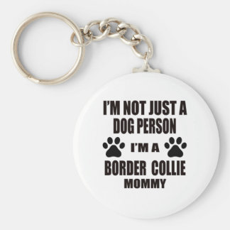 I am a Border Collie Mommy Keychain