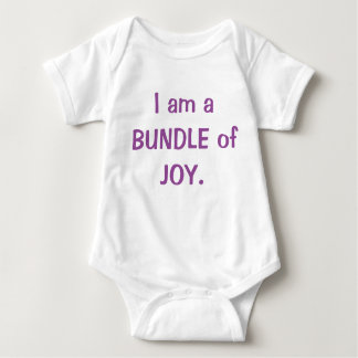 I am a bundle of joy baby bodysuit