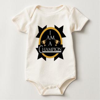I AM A CHAMPION BABY BODYSUIT
