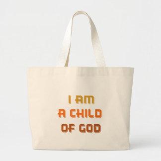 I am a child of god large tote bag