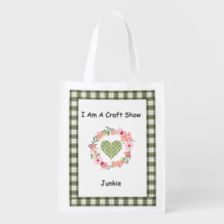 I Am A Craft Show Junkie Tote Market Tote