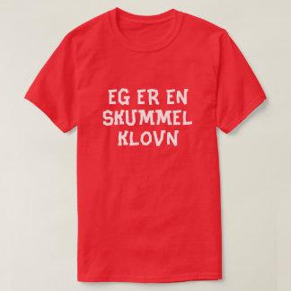 I am a creepy clown in Norwegian red T-Shirt