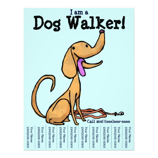 am a Dog Walker Flyer | Zazzle