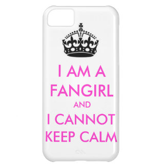 I am a fangirl and i cannot keep calm iphone case