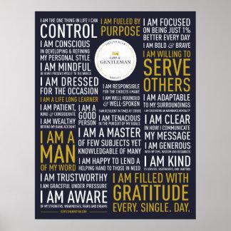 I Am A Gentleman Manifesto (24x31 inches) Poster
