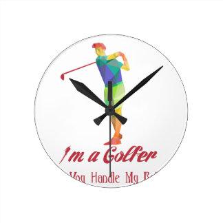 I am a Golfer - Can You Handle My Balls v2 Wallclocks