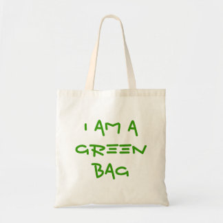 i am a green bag reusable enviro shopping bag