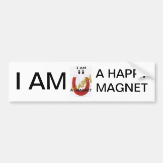 I AM A HAPPY MAGNET BUMPER STICKER