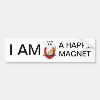 I AM A HAPPY MAGNET BUMPER STICKER