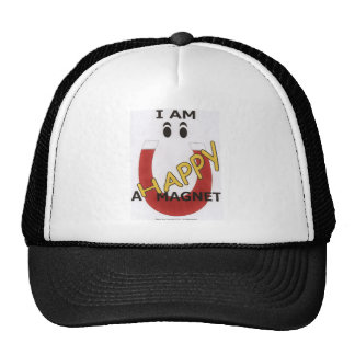 I AM A HAPPY MAGNET TRUCKER HAT