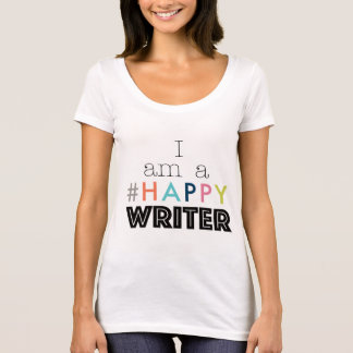I Am A Happy Writer Scoop Neck Tee