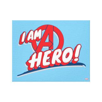 I Am A Hero! Canvas Print