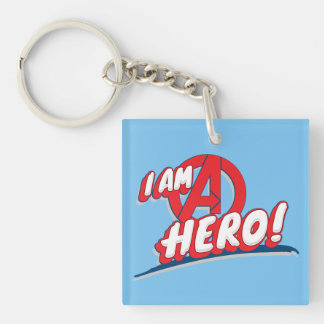 I Am A Hero! Double-Sided Square Acrylic Keychain