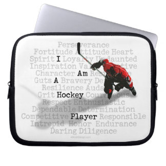 I Am A Hockey Player Laptop Sleeve