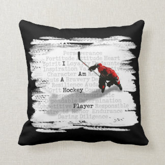 I Am A Hockey Player Throw Pillow