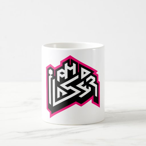 I AM A LASER: 11oz Fuchsia Coffee Mug