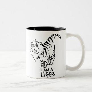 I Am A Liger Two-Tone Coffee Mug