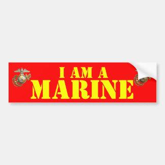 I AM A MARINE BUMPER STICKER